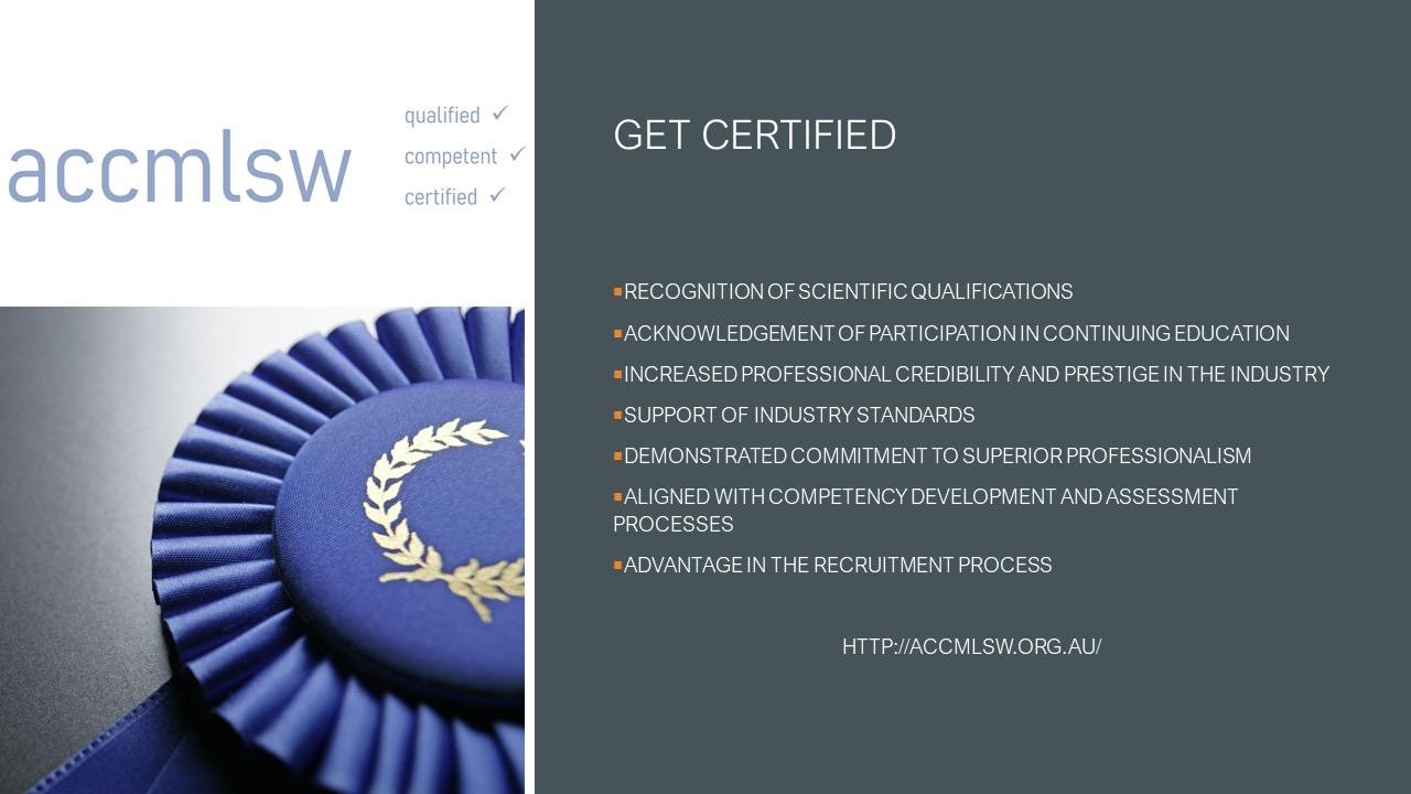 Get Certified | accmlsw